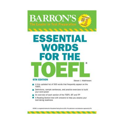 Essential words for the Toefl Barron's 6 th edition