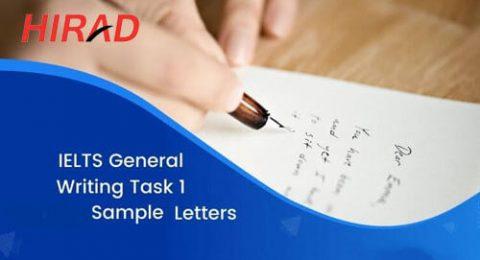 IELTS General Writing Task1 Sample Letters