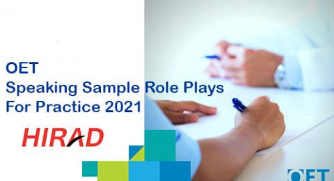 oet speaking sample role plays for practice 2021